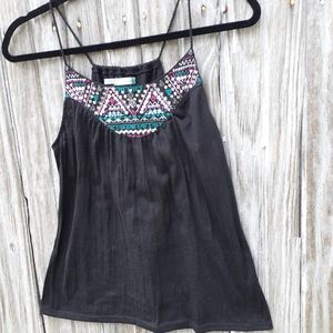 Maurice's, sz S, spaghetti strap tank top, relaxed